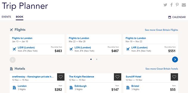 Esempio di prenotazione su Expedia per la camapgna OMGB