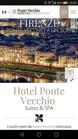 hotel mobile: esempio di sito mobile per hotel