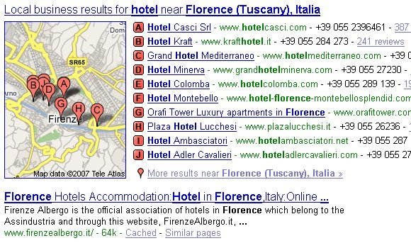 Local Search Florence Hotel